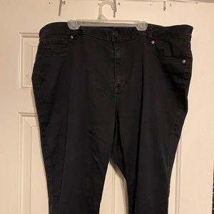 Avenue Black Skinny Jeggings-Size 18